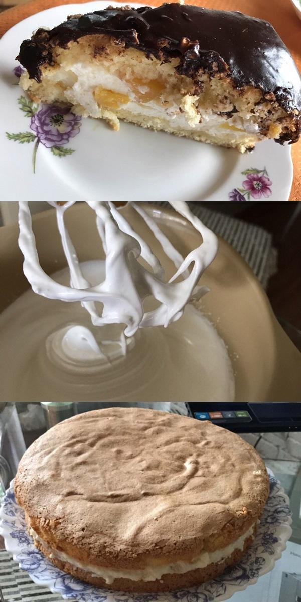 Как приготовить бисквит с нежнейшим творожным кремом