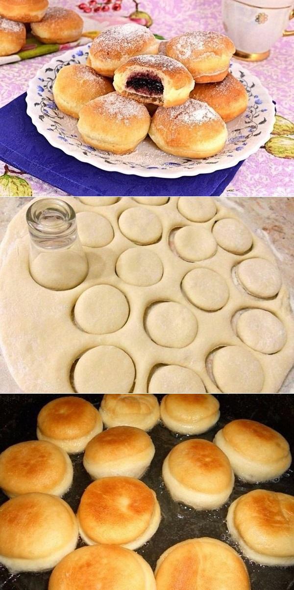 Пончики с начинкой. Ну оочень вкусно!