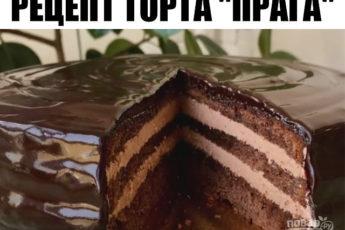 Божественно мягкий торт «Прага». Какая же это красота, так и хочется кусочек!