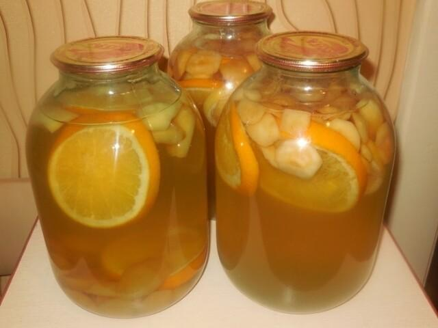 Компот из яблок, апельсина и лимона — домашняя фанта на зиму