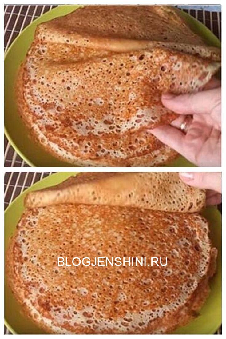 Рецепт блинов на кефире, которые получаются даже у тех, у кого они не получаются никогда)