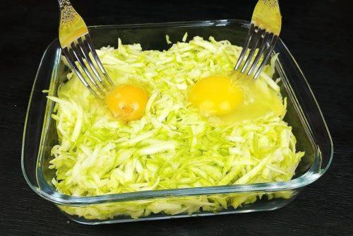 Потрясающий ужин для всей семьи из кабачка и двух яиц 1