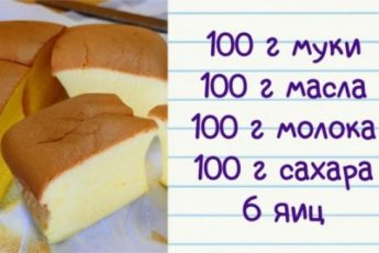 Все по 100: рецепт пышного и вкусного пирога 1