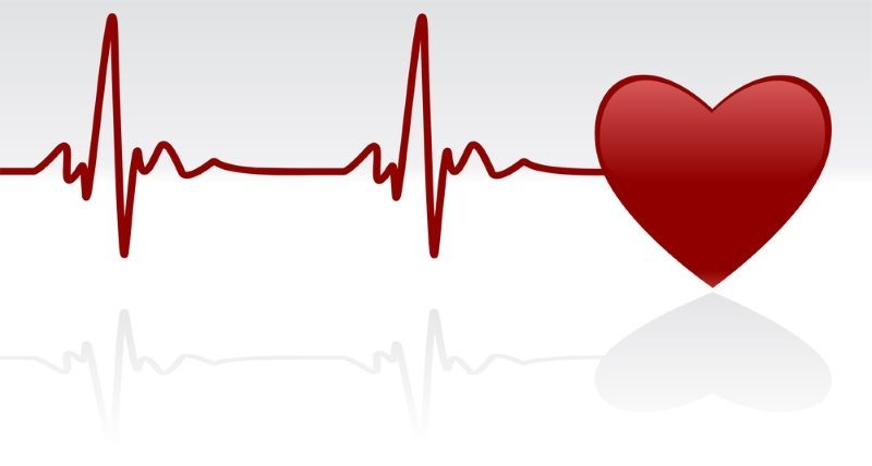 editable-vector-background-heart-and-heartbeat-symbol-on-reflective-surface